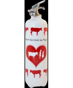 Extincteur design Parischeri Communailles blanc