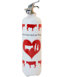 Fire extinguisher design Parischeri Communailles white