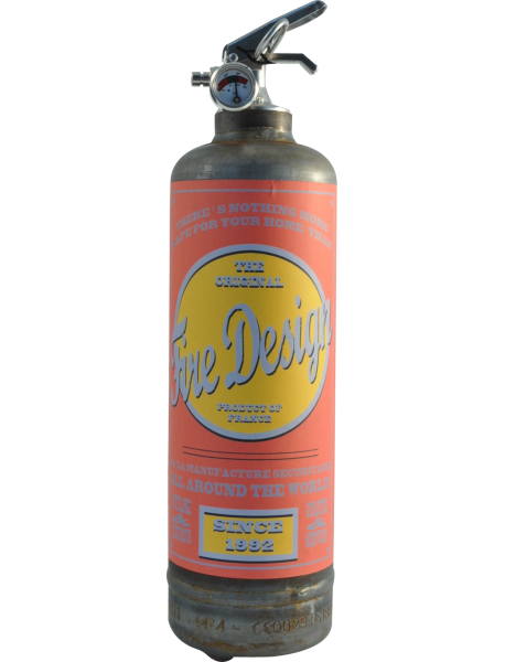 Fire extinguisher design Old School raw red