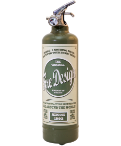 Fire extinguisher design vintage Old school Khaki