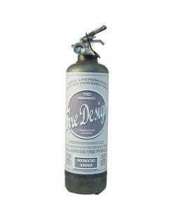 Fire extinguisher design Old School raw grey