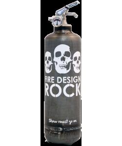 Extincteur design Rock brut-blanc