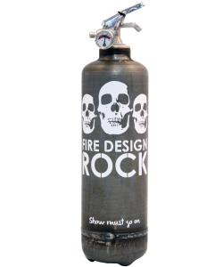 Fire extinguisher design Rock raw white