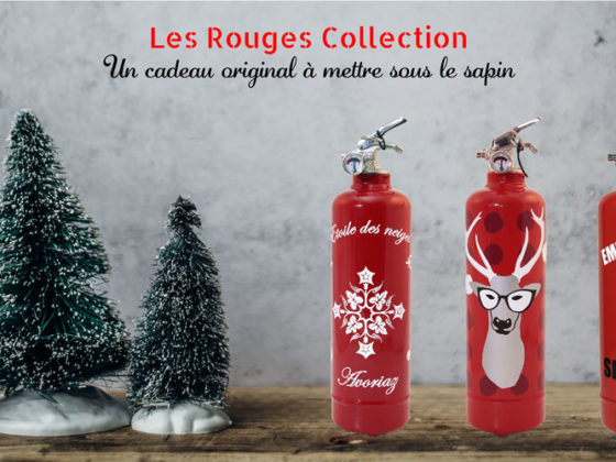 Fire Design extincteurs rouges collection Noel