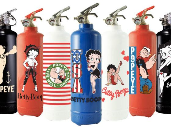 fire design extincteur betty boop popeye